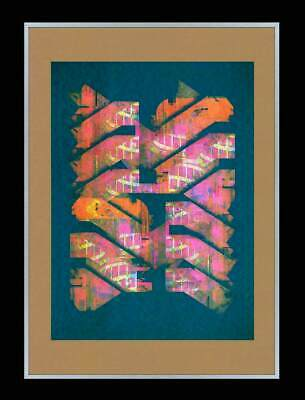 £9.99 • Buy Large Signed Abstract Screen Print. Brutalist Architecture Theme Miro Joan Op