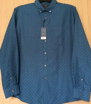 £15 • Buy BHS Atlantic Bay Soft Touch Blue/Sea Wave Color Button-Down Collar Shirt. XL