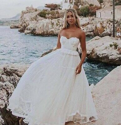 AU349 • Buy BNWT New In Box SPELL Zoe Tulle Gown XS Bridal Dress