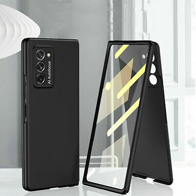 AU22.98 • Buy For Samsung Galaxy Z Fold 3 2 5G Slim PC Full Protect Case With Tempered Glass
