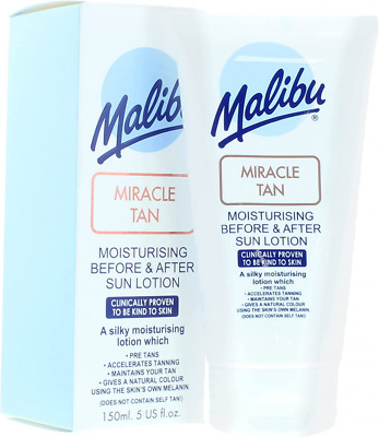 £5.89 • Buy Malibu Miracle Tan Moisturising Before And After Sun Lotion 150ml Sun Care Best
