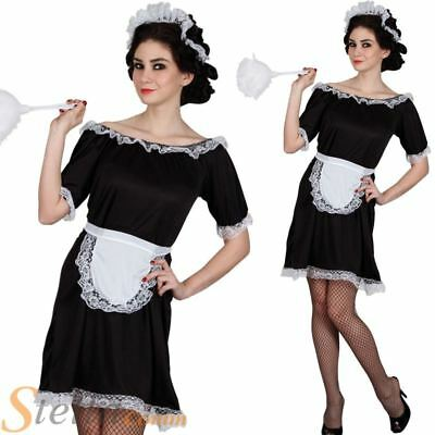£10.49 • Buy Ladies Classic French Maid Costume House Cleaner Outfit Fancy Dress Outfit