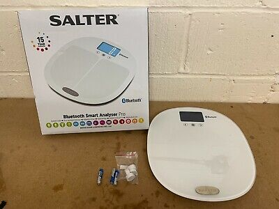 £34.99 • Buy Salter Curve Bluetooth Smart Analyser Pro Bathroom Scale - White