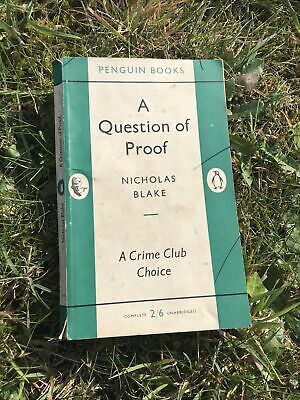 £3.99 • Buy A Question Of Proof By Nicholas Blake PB 1955 Penguin Books A Crime Club Choice