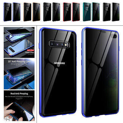 AU15.46 • Buy For Samsung Galaxy S20 S10 S9 S8 Magnetic Anti Spy Privacy 360 Protective Case