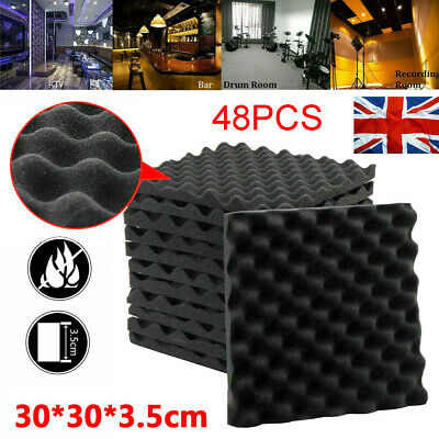 £23.99 • Buy Acoustic Wall Panel Tiles Studio Sound Proofing Insulation Foam Pads 30x30x5cm