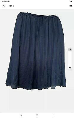 £10 • Buy Reiss Skirt Midi Size 12 Dark Navy. New With Tags,