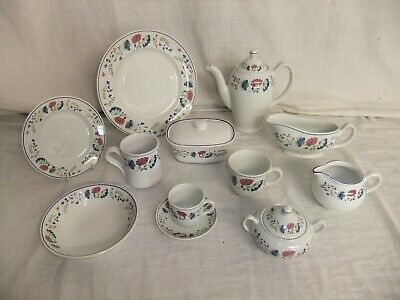 £4 • Buy C4 Pottery Bhs - Priory - Blue Floral Vintage Ironstone Tableware - 1D2E