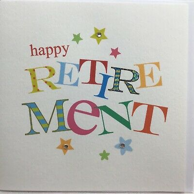 £2.90 • Buy Lovely Small Sadie Jean Hand Painted Happy Retirement Card