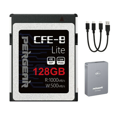 AU189 • Buy PERGEAR 128GB Professional CFexpress Type-B Memory Card+Reader For Film/picture