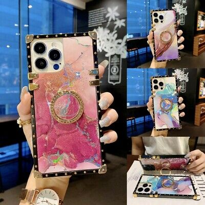 AU14.85 • Buy Girls Cute Laser Glitter Marble Case Cover For IPhone 13 Pro Max 12 11 XS XR 7 8