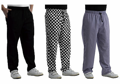 £16.30 • Buy Chefs Plain Or Check Polycotton Trousers Unisex Cooks Kitchen Catering Workwear