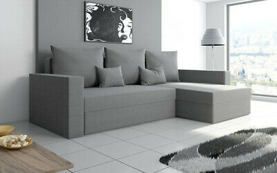 £329 • Buy Universal Corner Sofa Bed With Storage, Fabric In Gray