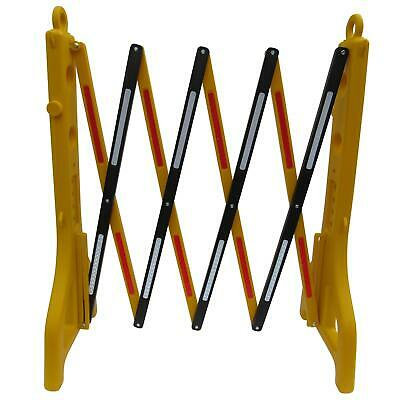 £68.99 • Buy Folding Safety Barrier 2.3m (Crowd Control Retractable Expandable Yellow Temp)