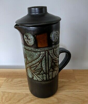 £30 • Buy Medallion Celtic Pottery Coffee Pot From Newlyn, Cornwall 1960-1979