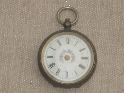 £9.99 • Buy Antique Silver ? Pocket Watch For Spares Or Repair