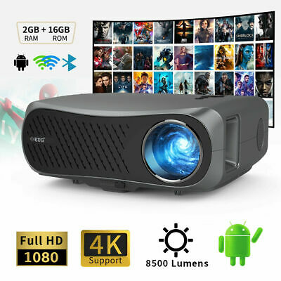 AU694.99 • Buy 8500lms 5G WiFi Projector Native 1080P Home Theatre 4K Movie TV Office Zoom AU
