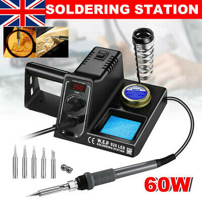 £23.98 • Buy 60W WEP Soldering Iron Station Rework Variable Temperature Stand Digital LED UK