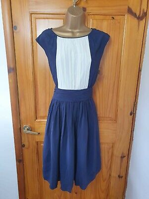 AU9.39 • Buy Boden Size 12 Navy Blue Smart Formal Party Occasion Sleeveless Dress