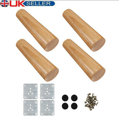 £11.59 • Buy 4x Wooden Furniture Legs Tapered Feet Legs For Bed Stool Sofa Chair Cabinet Foot