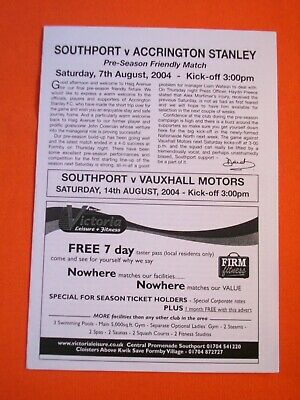 £0.99 • Buy Southport V Accrington Stanley,  Friendly   7th August 2004