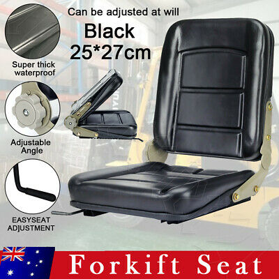 AU52.59 • Buy Forklift Seat Chair Adjustable Leather Bobcat Tractor Excavator Machinery New AU