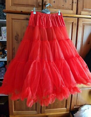 £5.50 • Buy Hell Bunny 50s Petticoat Red Size XS - M