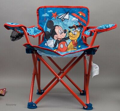 £26.96 • Buy Disney Mickey Mouse And Pluto Fold N Go Chair With Build In Cupholder NWT