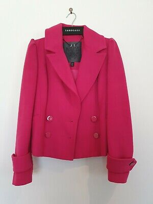 AU35 • Buy Forever New Rose Pink Short Coat With Pleat Detail Jacket Size 6