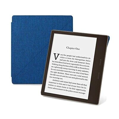 AU16.54 • Buy Amazon Kindle Oasis Fabric Standing Case Cover 9th Gen 2017 Blue