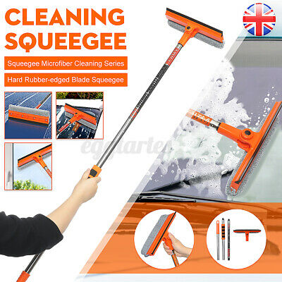 £7.19 • Buy 180° Extendable Pole Water Telescopic Wash Brush Car Window Squeegee Cleaner