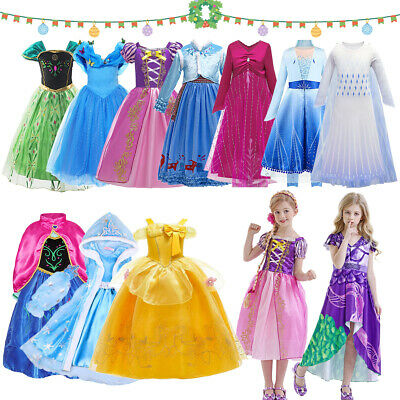 £6.99 • Buy Princess Fancy Dress Up Girls Cosplay Kids Costume Party Outfit Christmas Gifts