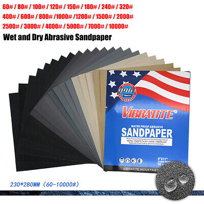 £1.29 • Buy 230*280mm 996A Wet And Dry Abrasive Sandpaper Grit 60#~10000# Sand Paper Sheets
