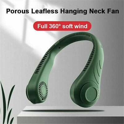 AU15.99 • Buy Portable Rechargeable Mini Fan Neckband Bladeless Lazy Neck Hanging Cooler USB