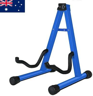 AU16.99 • Buy Guitar Stand Folding Universal A Frame Stand For All Guitars Electric Bass Blue