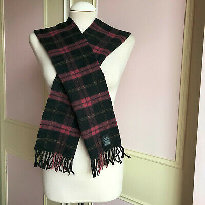 £10 • Buy 100% Pure Cashmere Checked Pattern Scarf - Multi Coloured [Made In Scotland]