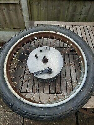 £85 • Buy Classic Motorcycle Wheel , Spoked Motorbike Wheel And Tyre , Unknown Barn Find