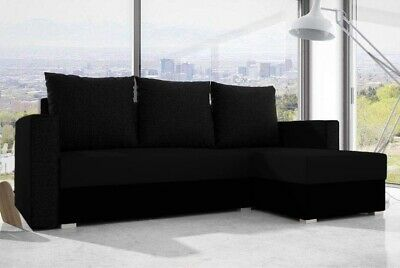 £339 • Buy Universal Corner Sofa Bed With  Storage, Fabric In Black