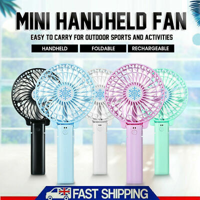 AU11.98 • Buy Portable Mini Hand-held Small Folding Desk Fan Cooler Cooling USB Rechargeable
