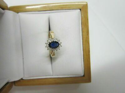 AU125.25 • Buy 14K Yellow Gold Over 2.50Ct Oval Cut Blue Sapphire And Diamond Engagement Ring