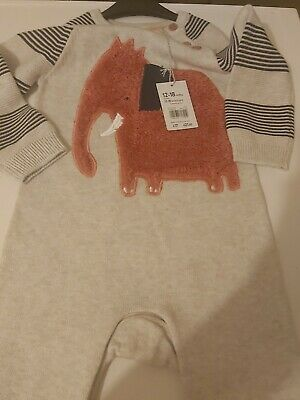 £14 • Buy Mothercare BNWT Boys UK 12/18 Months Bodysuit All In One Knitted Winter