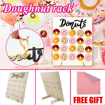 £9.99 • Buy 20PCS Donut Doughnut Wall Stand Party  Sweets Candy Cart Wedding Favour Birthday