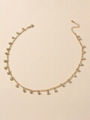 AU1 • Buy Bling Rhinestone Sparkly Choker Shining Drop Crystals Necklace Party Jewellery