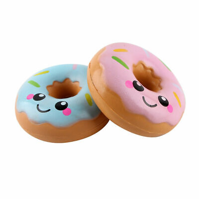 AU19.87 • Buy 2X HOT AU 11cm Lovely Doughnut Cream Scented Squishy Slow Rising Squeeze Toys