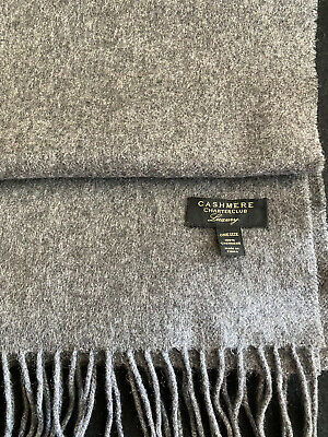 £19.50 • Buy Mens/Unisex Charter Club 100% Pure Cashmere Long Scarf Grey Winter Wear Scarves