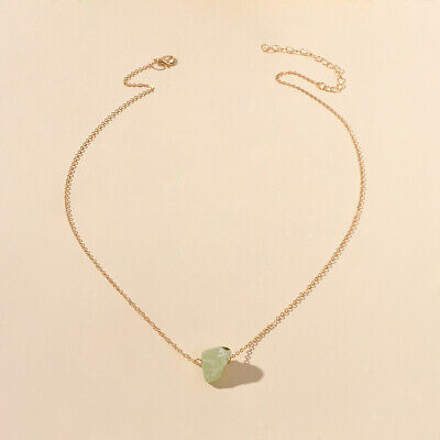 AU1.99 • Buy Gold Chain Natural Geometric Stone Crystal Charm Necklace Collar Jewellery