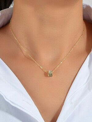 AU1 • Buy Luxurious Jewellery Gold Silver Chain Rhinestone Cylinder Necklace Accessories