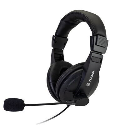 £10.99 • Buy Light-Weight Wired Headset Headphones With Microphone For PC Laptop Skype Zoom
