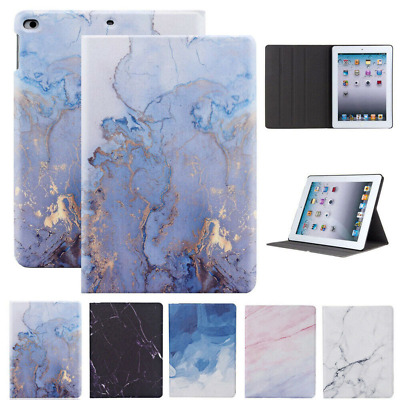 AU18.39 • Buy For IPad 5 6 7 8 9th Gen Mini Air Pro 1/2/3/4 Marble Leather Smart Case Cover