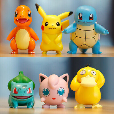 £9.90 • Buy 6x Collectible Pokemon Toys Figures Doll Character Kids Pikachu Squirtle Slim